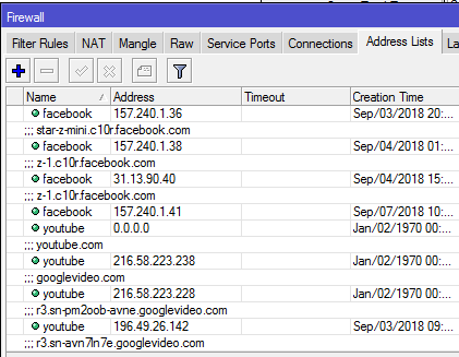 capture youtube and facebook ips