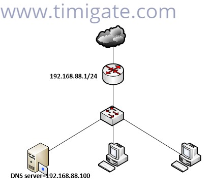 redirect dns requests to a local dns server