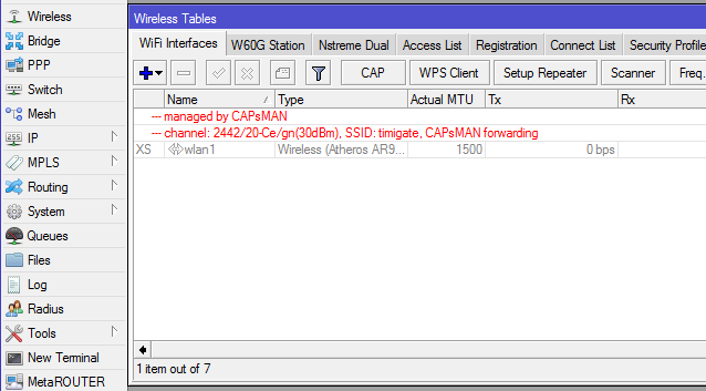 Use Mikrotik CAPSMAN to manage all access points and enable