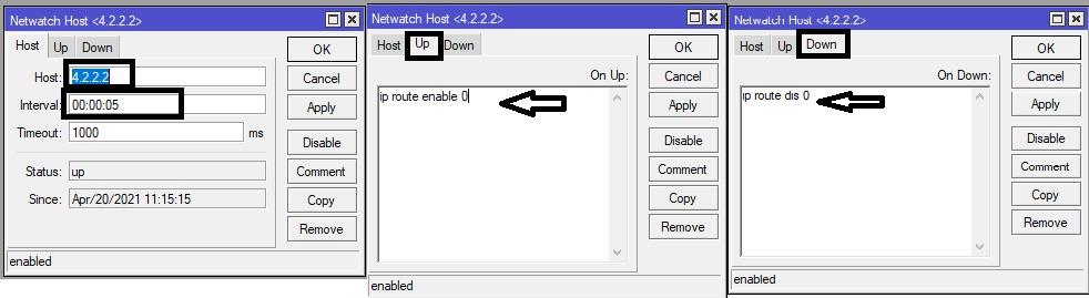 Mikrotik automatic failover
